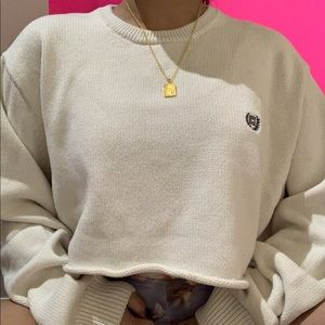 cropped chaps by ralph lauren cream sweater ✧